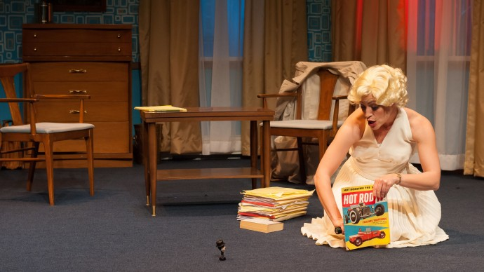 Stacy Fischer in INSIGNIFICANCE. Photo: A.R. Sinclair Photography.