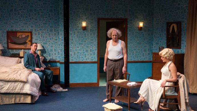 Alexander Platt, Richard McElvain and Stacy Fischer in INSIGNIFICANCE. Photo: A.R. Sinclair Photography.