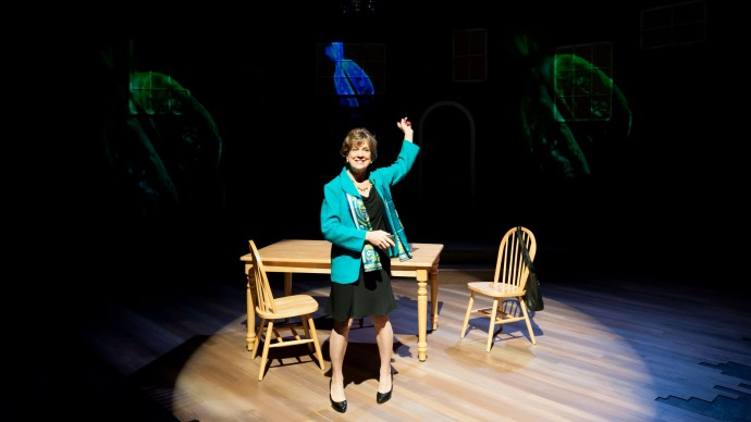 Debra Wise in Sharr White's THE OTHER PLACE. Produced by The Nora Theatre Company and Underground Railway Theater. Photo: A.R. Sinclair Photography.