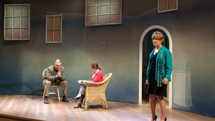 David DeBeck, Angie Jepson, and Debra Wise in Sharr White's THE OTHER PLACE. Produced by The Nora Theatre Company and Underground Railway Theater. Photo: A.R. Sinclair Photography.