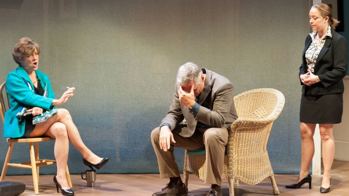 Debra Wise, David DeBeck, and Angie Jepson in Sharr White's THE OTHER PLACE. Produced by The Nora Theatre Company and Underground Railway Theater. Photo: A.R. Sinclair Photography.