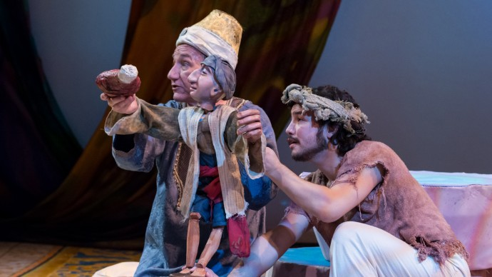 Alexander Cook and Andrew Tung in ARABIAN NIGHTS. Photo: A.R. Sinclair Photography.