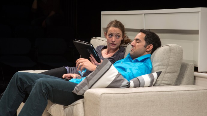 Stacy Fischer and Nael Nacer in DISTRACTED. Photo: A.R. Sinclair Photography.