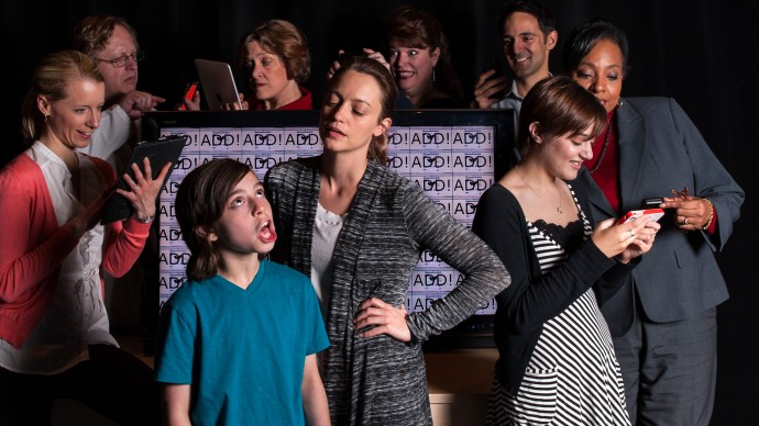 The Cast of DISTRACTED. Photo: A.R. Sinclair Photography.