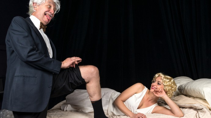 Richard McElvain and Stacy Fischer in INSIGNIFICANCE. Photo: A.R. Sinclair Photography.