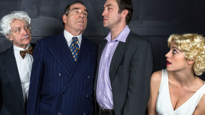 Richard McElvain, Barry M. Press, Alexander Platt, and Stacy Fischer in INSIGNIFICANCE. Photo: A.R. Sinclair Photography.