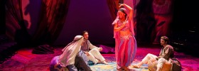 Alexander Cook, Andrew Tung, Lindsy McWhorter, and Yavni-Bar Yam in ARABIAN NIGHTS. Photo: A.R. Sinclair Photography.