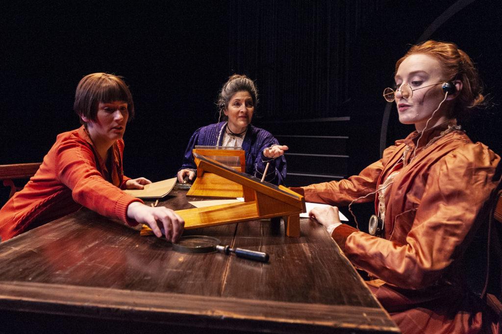 Amanda Collins (Cecilia Payne), Sarah Newhouse (Annie Jump Cannon), & Sarah Oakes Muirhead (Henrietta Swan Leavitt) in THE WOMEN WHO MAPPED THE STARS. Photo: A.R. Sinclair Photography.