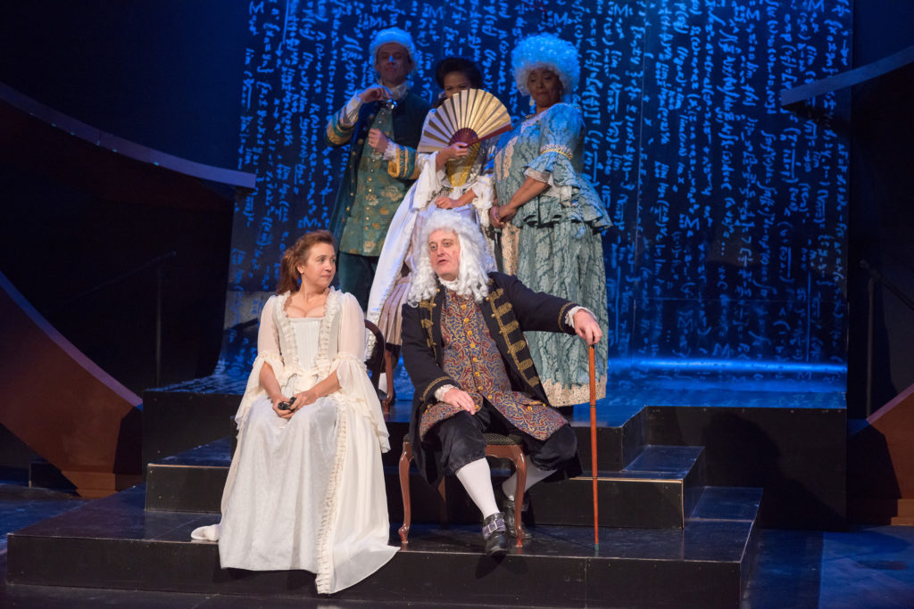 "The cast of ""Emilie La Marquise du Charelet Defends Her Life Tonight"". Photo: A.R. Sinclair Photography."