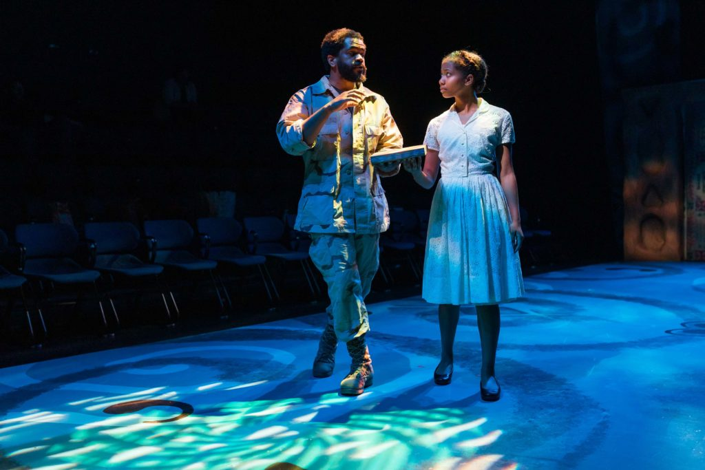 Brandon G. Green (Ulysses Lincoln) and Journey-Ade King (Benevolence Nausicca Sabine). Photo: Maggie Hall.