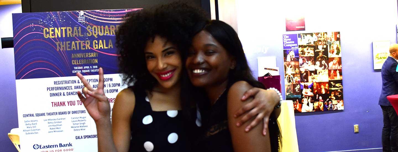 Sabrina Saint-Louis (right) with Dilanna Morrison. Photo: Nina Groom.